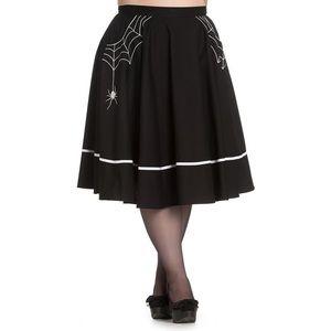 Hell Bunny Spider Web Circle Skirt